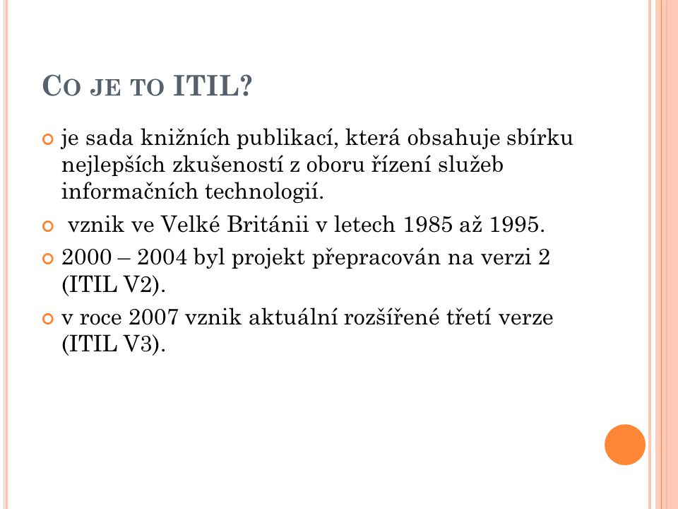 C O JE TO ITIL.