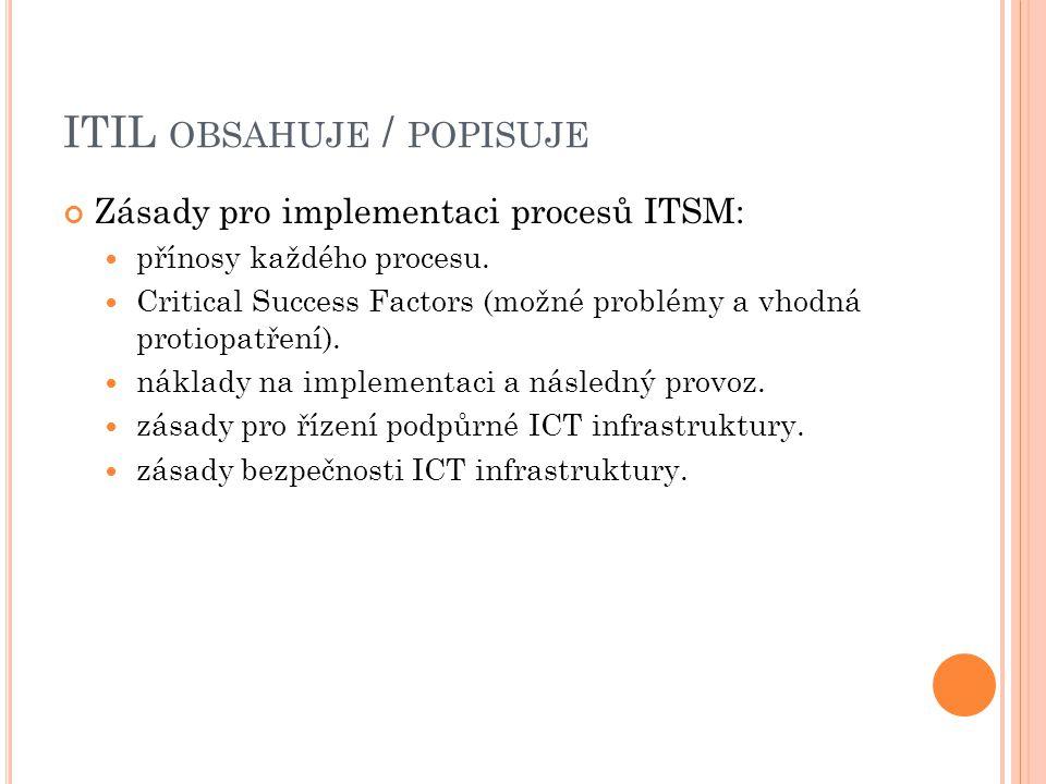 ITIL NEŘEŠÍ konkrétní podobu organizační struktury.