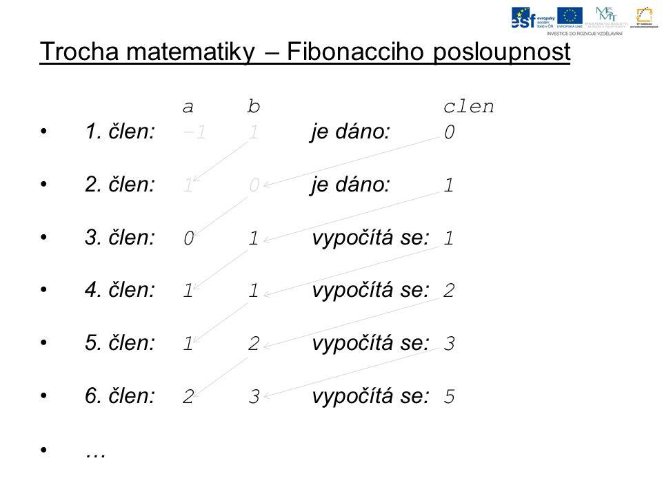 Trocha matematiky – Fibonacciho posloupnost abclen 1.