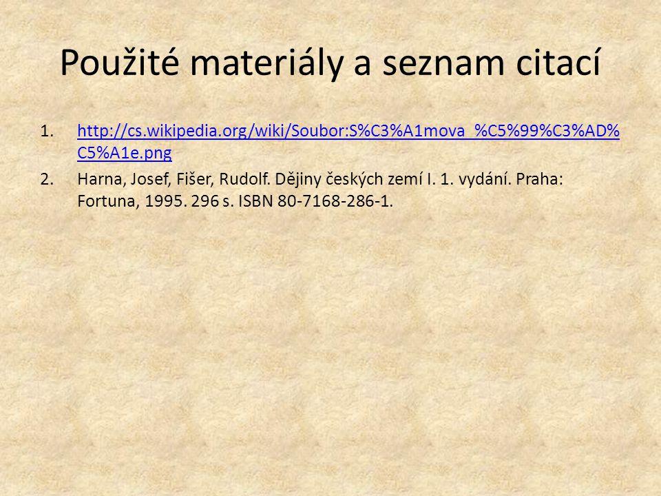 Použité materiály a seznam citací 1.http://cs.wikipedia.org/wiki/Soubor:S%C3%A1mova_%C5%99%C3%AD% C5%A1e.pnghttp://cs.wikipedia.org/wiki/Soubor:S%C3%A