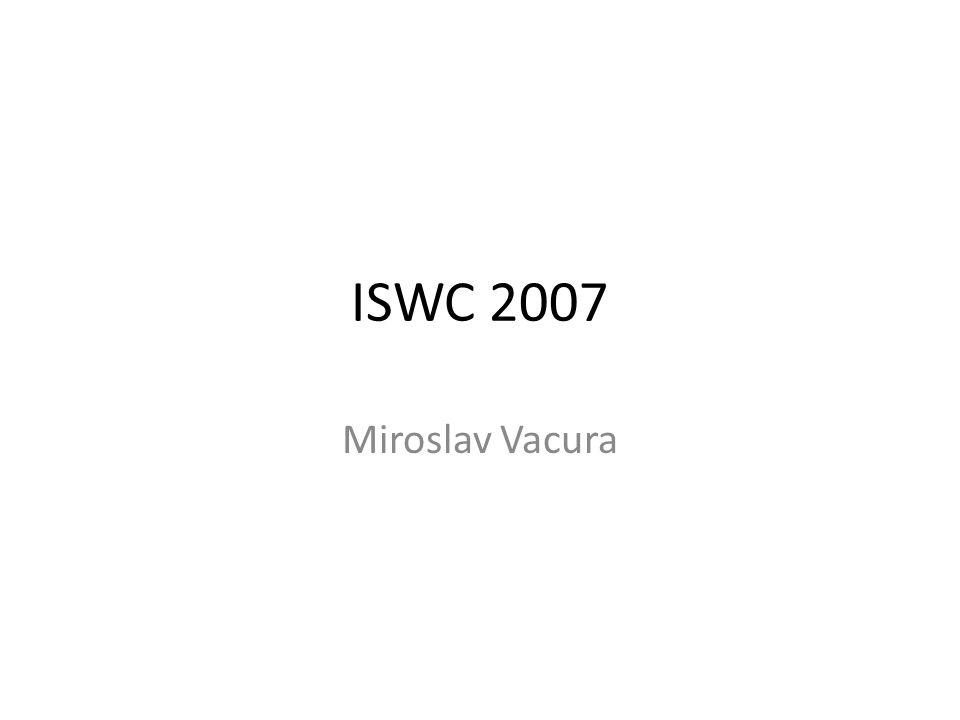 ISWC 2007 Miroslav Vacura