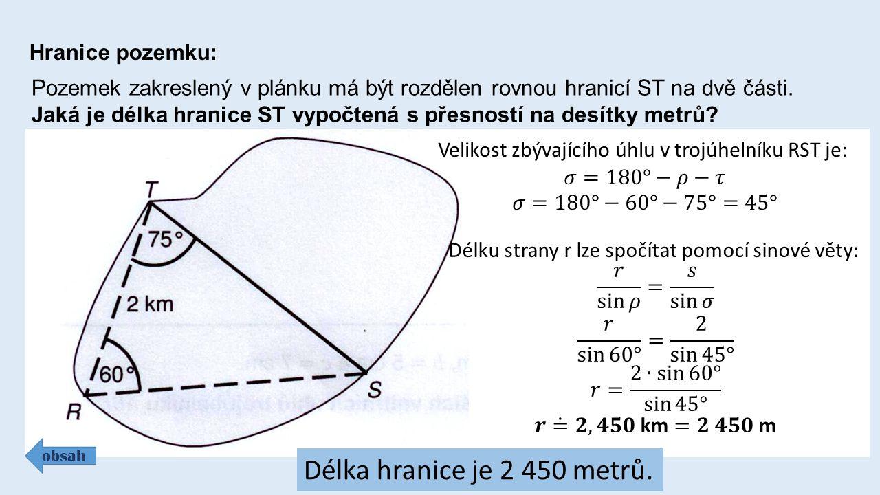 Hranice pozemku: Pozemek zakreslený v plánku má být rozdělen rovnou hranicí ST na dvě části.