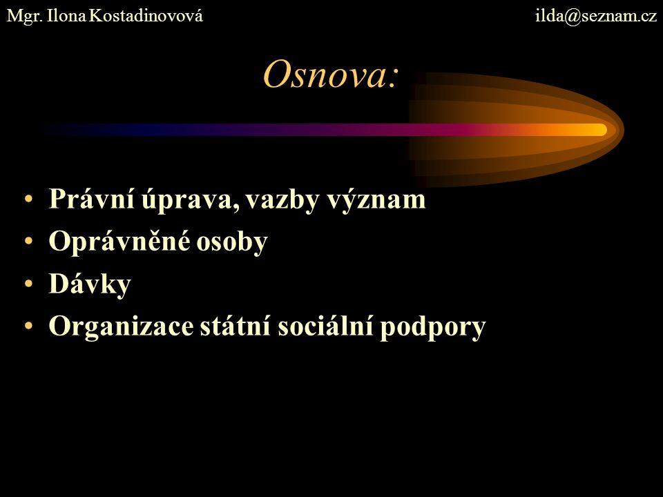 Základní literatura: Břeská, N., Burdová, E., Vránová, L.