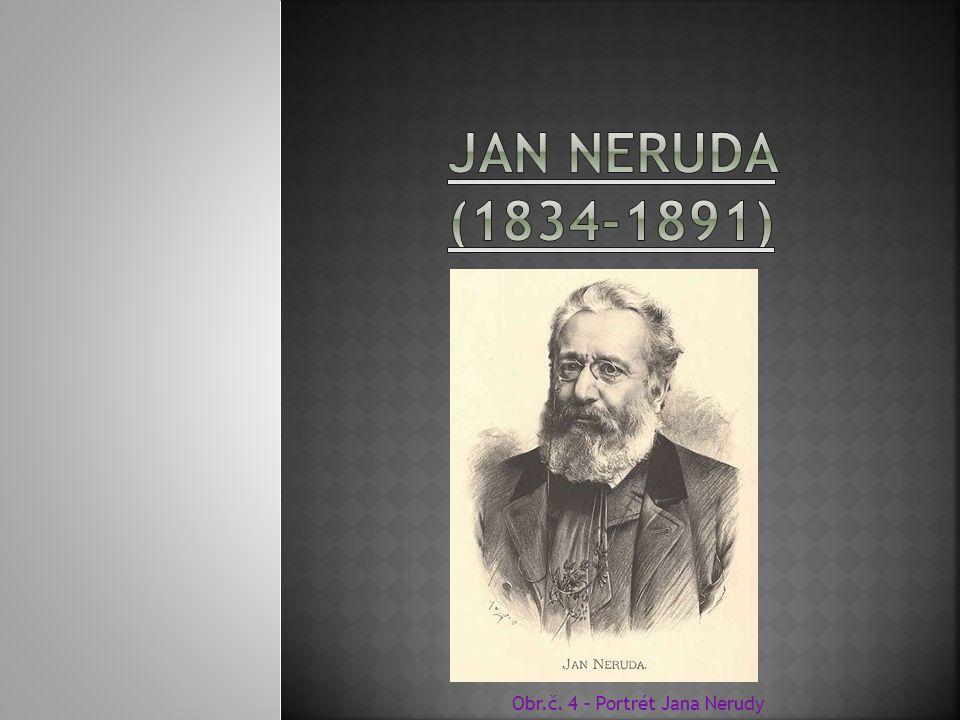 Obr.č. 4 – Portrét Jana Nerudy