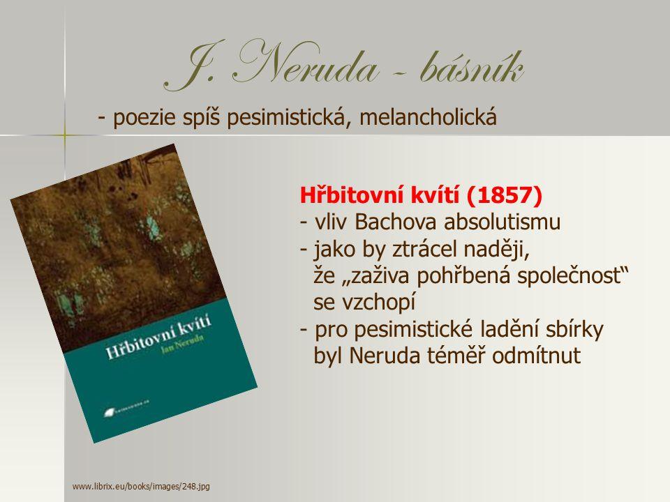 Povídky malostranské - vrcholem Nerudovy prózy - 13 povídek - zachytil život zdánlivě poklidné Malé Strany kolem roku 1848 (tedy v době svého dětství