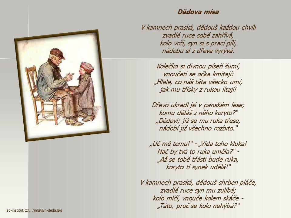 Knihy veršů (1868) - zmírňuje svůj pesimismus - projevuje zde lásku k rodičům a lidem vůbec  Kniha veršů výpravných (básně se sociální tematikou – Př
