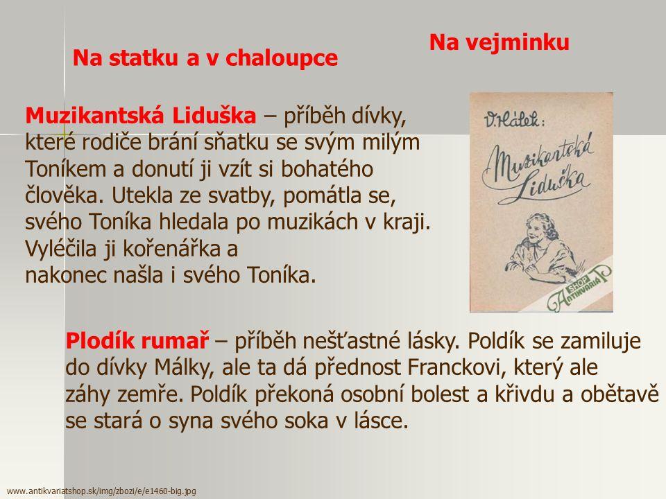 V. Hálek - prozaik - témata z vesnice či města - vypráví o mezilidských vztazích, o harmonii lidského života s přírodou - užívá prostý jazyk Neruda –