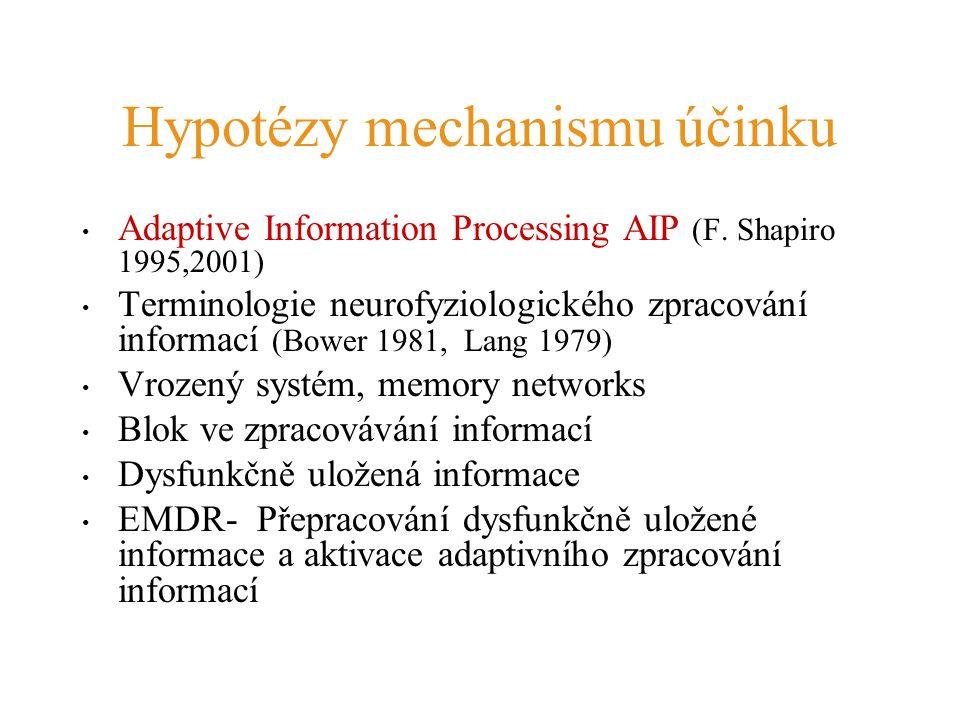Hypotézy mechanismu účinku Adaptive Information Processing AIP (F. Shapiro 1995,2001) Terminologie neurofyziologického zpracování informací (Bower 198
