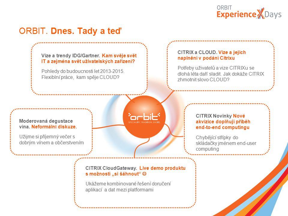 ORBIT. Dnes. Tady a teď Vize a trendy IDG/Gartner. Kam svěje svět IT a zejména svět uživatelských zařízení? Pohledy do budoucnosti let 2013-2015. Flex