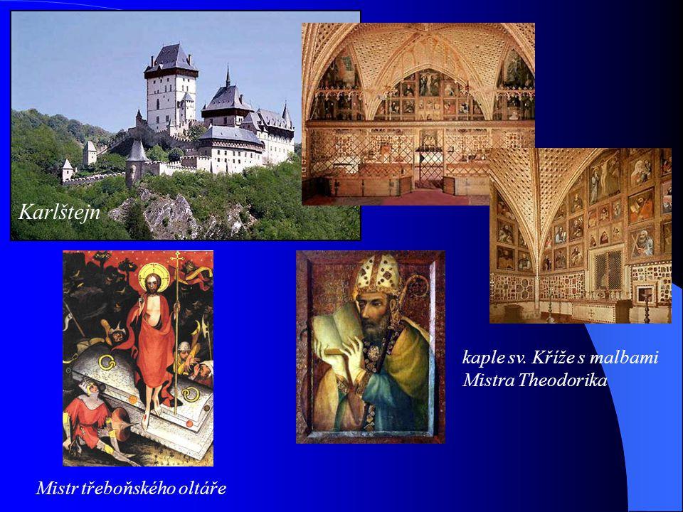 Od poloviny 13. století k nám pronikal z Francie nový sloh - GOTIKA Petr Parléř katedrála sv. Víta Matyáš z Arrasu Karlštejn Karlův most Korunovační k