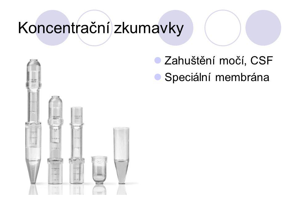 Koncentrační zkumavky Zahuštění močí, CSF Speciální membrána