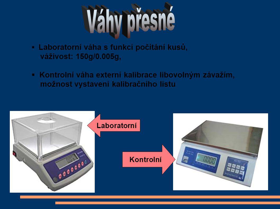  Laboratorní váha s funkcí počítání kusů, váživost: 150g/0.005g,  Kontrolní váha externí kalibrace libovolným závažím, možnost vystavení kalibračního listu Laboratorní Kontrolní