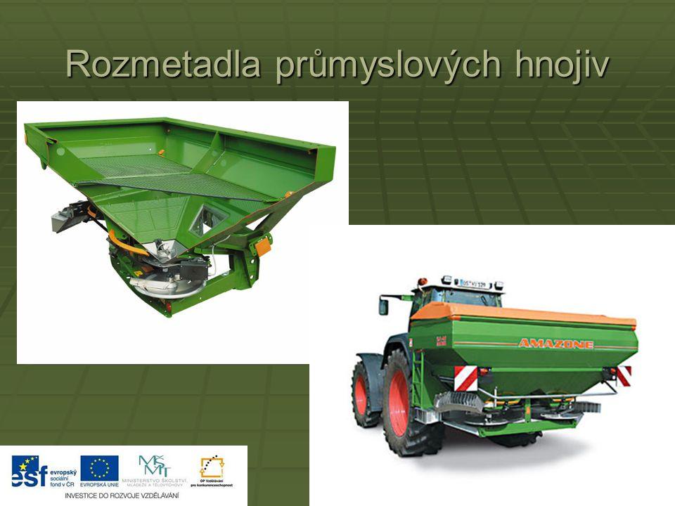 Rozmetadla průmyslových hnojiv