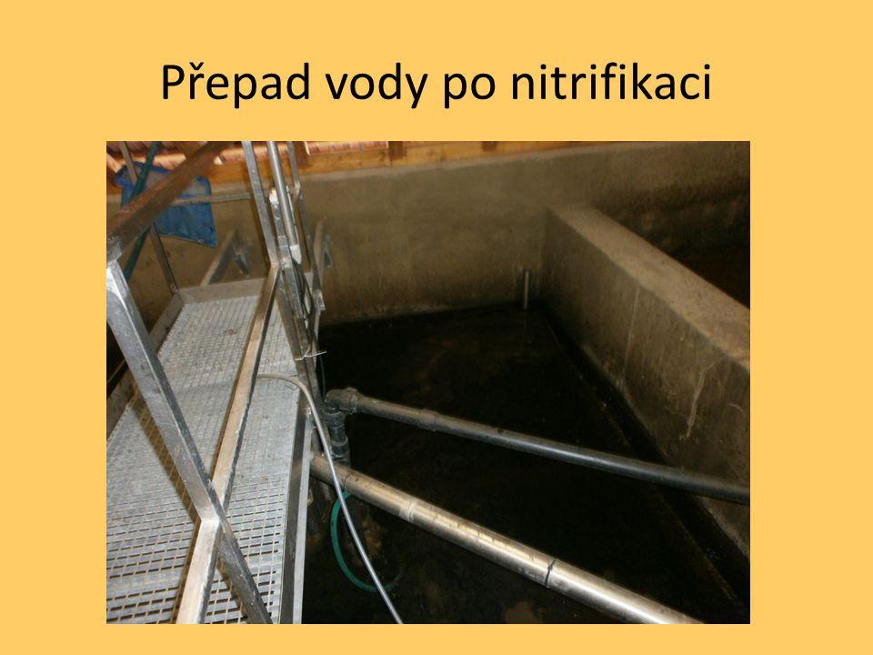 Přepad vody po nitrifikaci