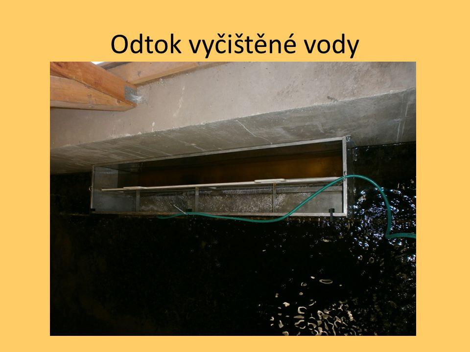 Odtok vyčištěné vody