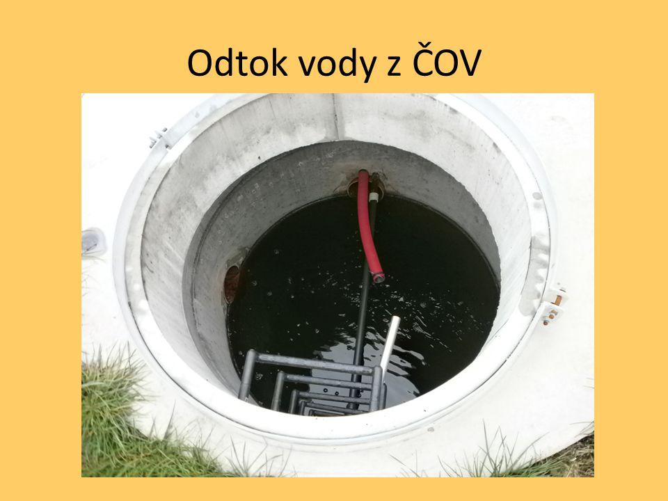 Odtok vody z ČOV