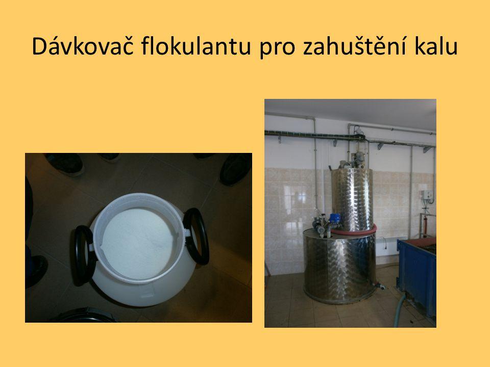 Dávkovač flokulantu pro zahuštění kalu