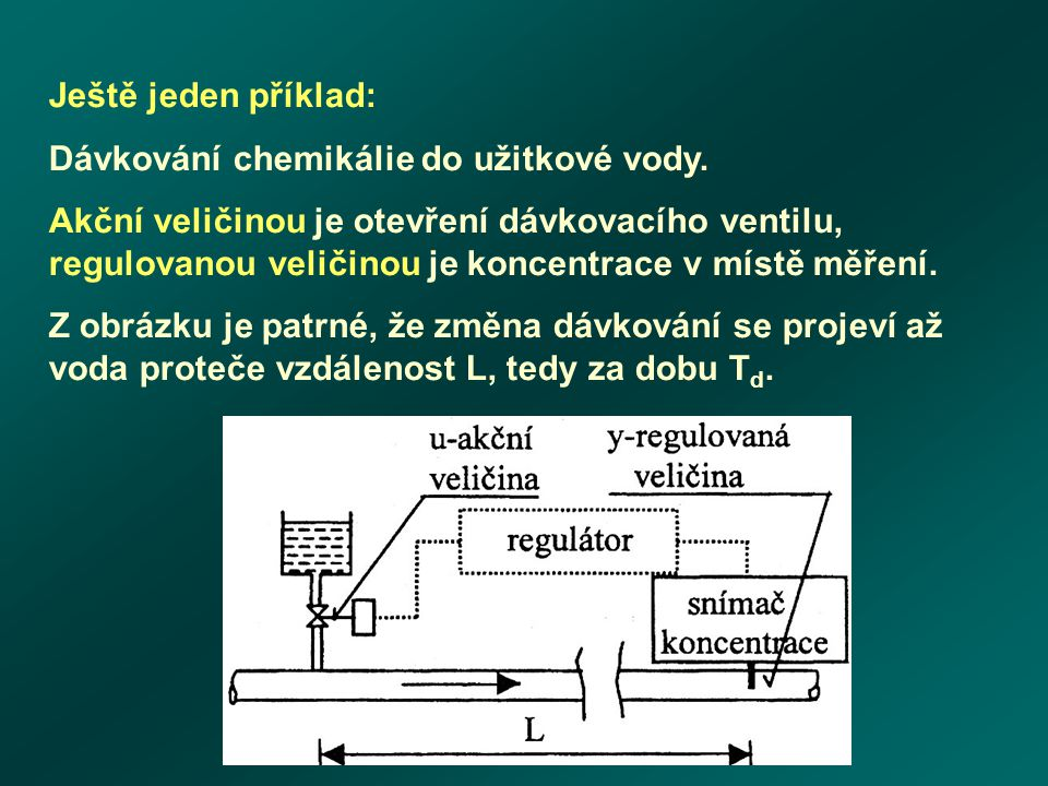 Ještě jeden příklad: Dávkování chemikálie do užitkové vody.
