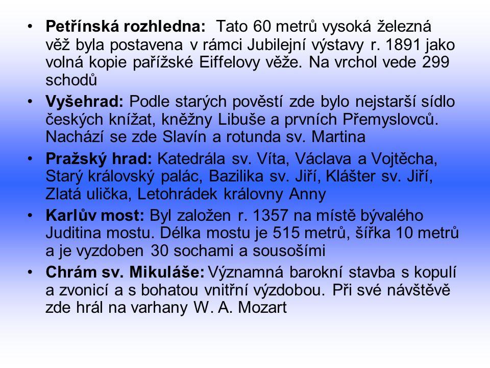 Moderní Praha: 733 registrovaných průmyslových závodů 111 000 pracujících lidí Nezaměstnanost pod 3,0% a výrazně snižuje celorepublikový průměr Velice významný turistický ruch Další odvětví: optický, kovodělný, potravinářský a farmaceutický průmysl HDP v Praze byl v roce 2002 kolem 620 miliard Kč Hospodářství Prahy z roku 2002