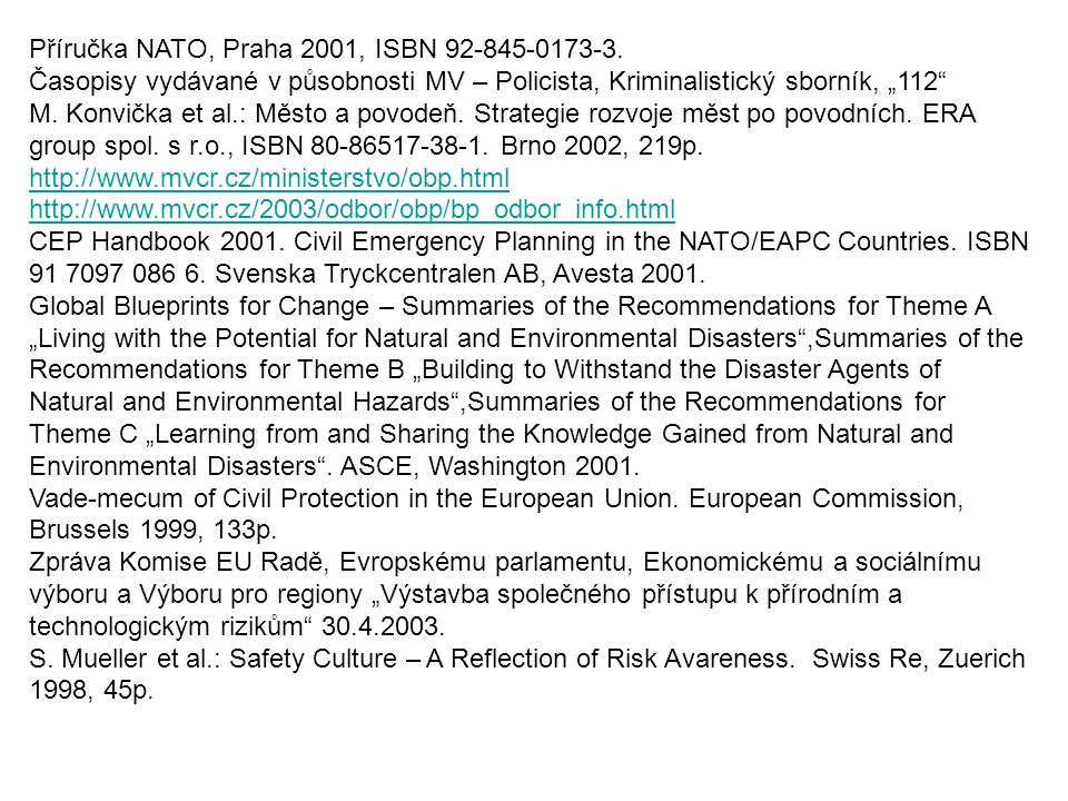 """A European Manual for """"Off-site Emergency Planning and Response to Nuclear Accidents ."""