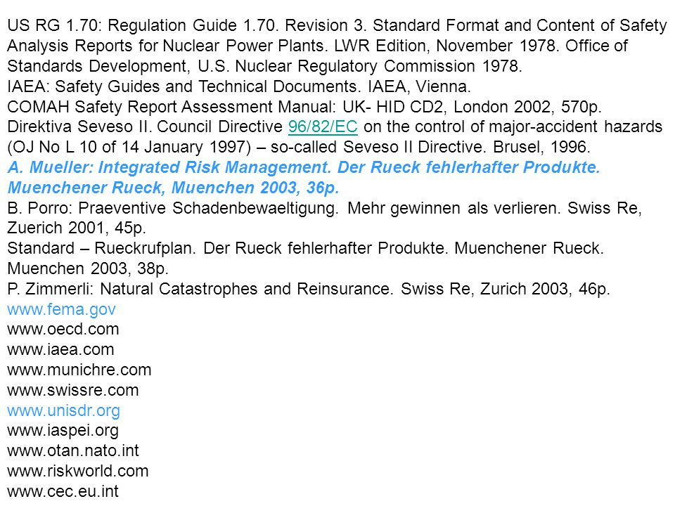 US RG 1.70: Regulation Guide 1.70.Revision 3.