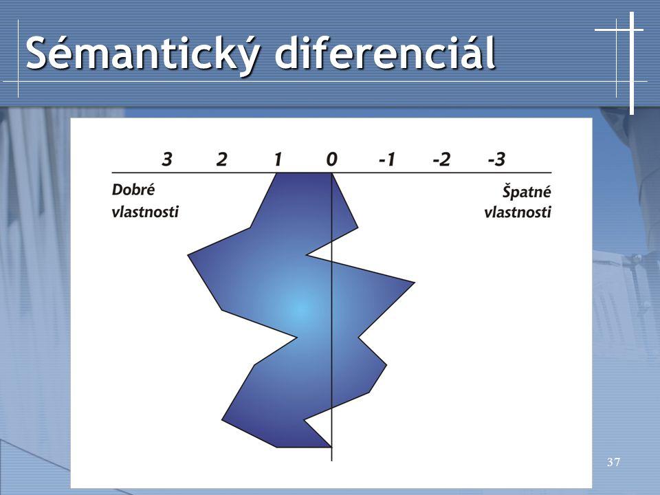 37 Sémantický diferenciál