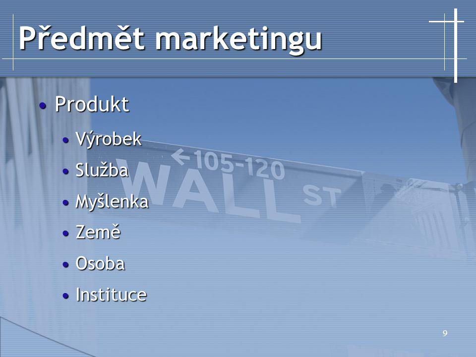 30 Marketingový informační systém Výzkum trhuVýzkum trhu Řeší konkrétní problémŘeší konkrétní problém Externí zdrojeExterní zdroje Prvek MISPrvek MIS MISMIS Kontinuální sběr informacíKontinuální sběr informací Interní, externíInterní, externí