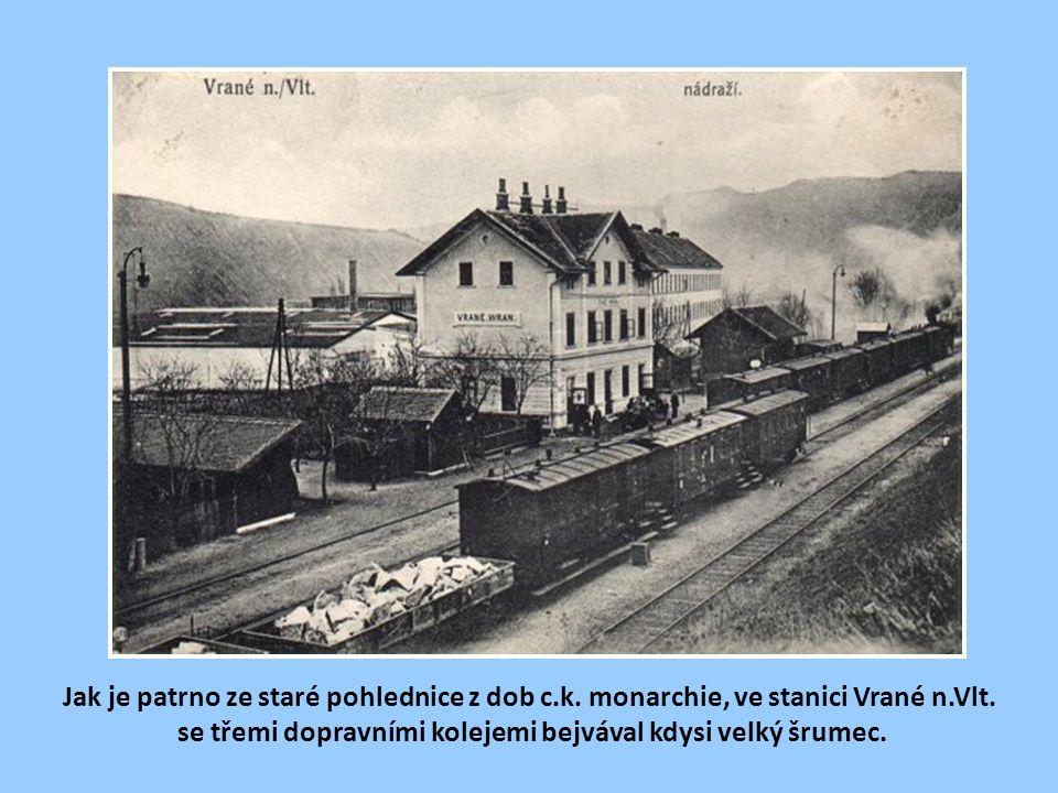 Stanice Vrané n. Vltavou na přelomu 19. a 20. století.