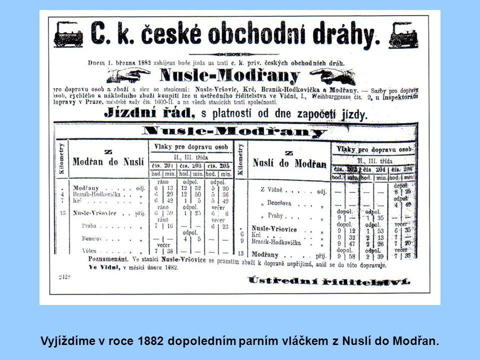 Stručně úvodem Vybudováním základní sítě železnic v Českých zemích prakticky v konci 70. let 19. století, v období tzv. zakladatelské horečky, nebyly