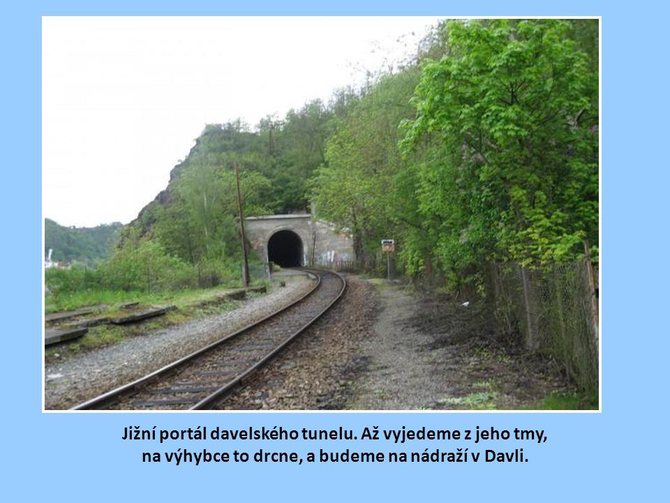 Severní portál davelského tunelu po rekonstrukci.