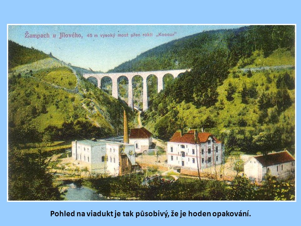Kamenný viadukt v Žampachu s výškou 45 m, klenoucí se přes rokli Kocour, byl načas nejvyšším kamenným železničním viaduktem v Čechách.