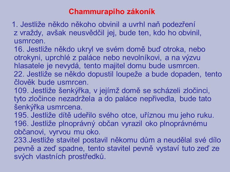 Chammurapiho zákoník 1.
