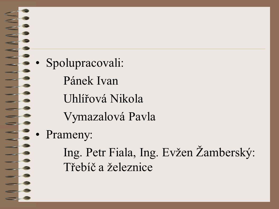 Spolupracovali: Pánek Ivan Uhlířová Nikola Vymazalová Pavla Prameny: Ing.