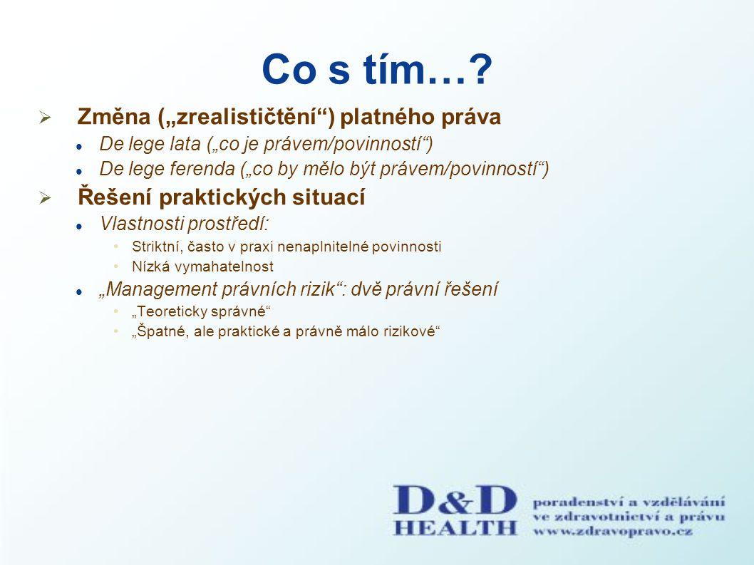 """Co s tím…?  Změna (""""zrealističtění"""") platného práva De lege lata (""""co je právem/povinností"""") De lege ferenda (""""co by mělo být právem/povinností"""")  Ř"""