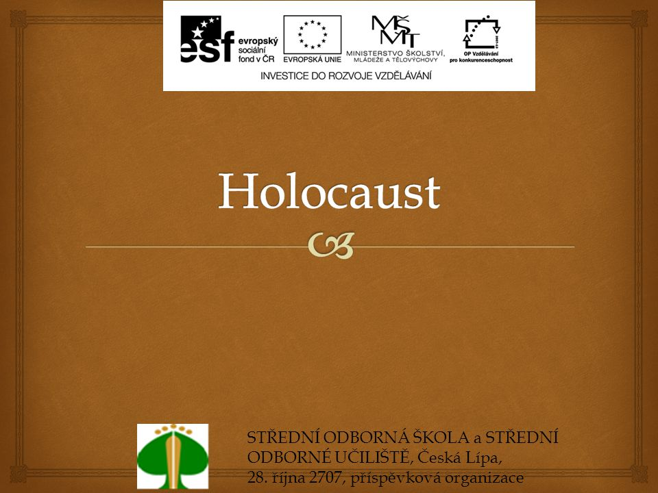  Obsah  1.Pojem  2. Mezinárodní den památky obětí holocaustu  3.