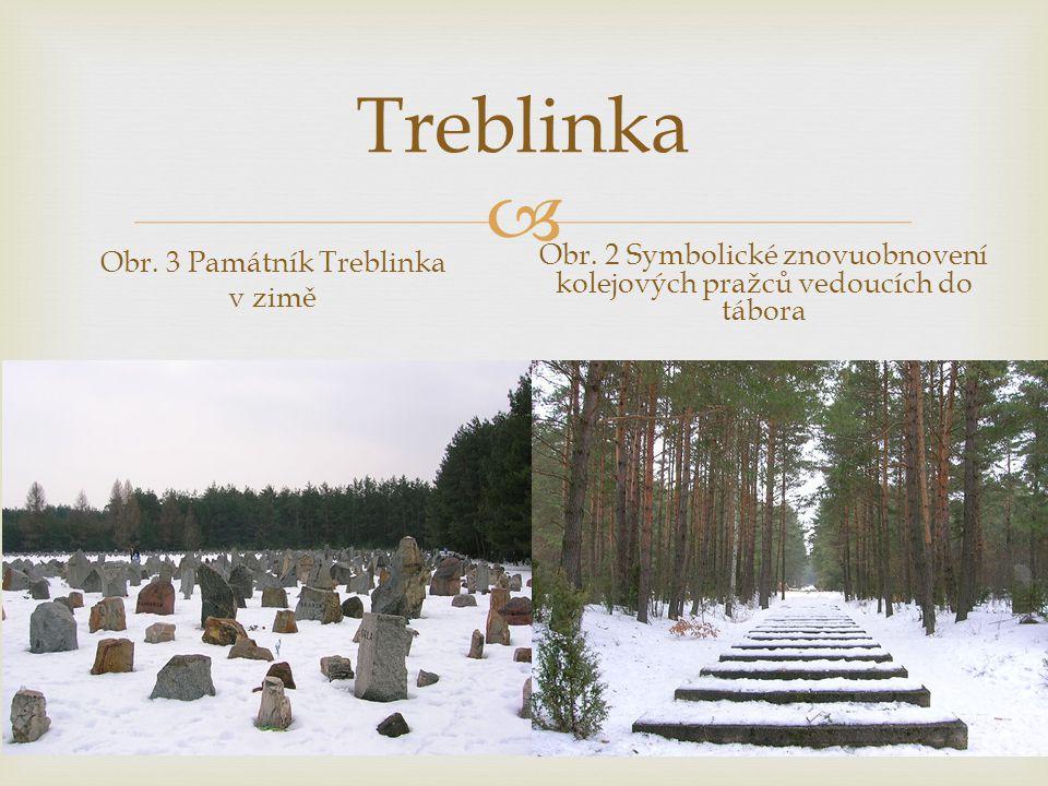  Treblinka Obr.3 Památník Treblinka v zimě Obr.