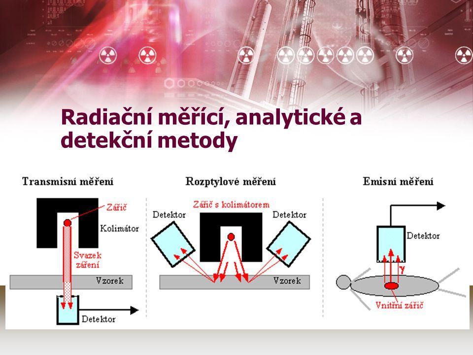 Radiační měřící, analytické a detekční metody