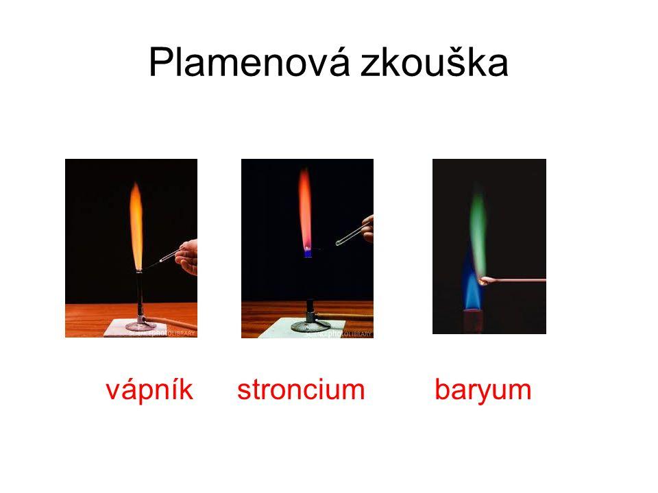 Plamenová zkouška vápníkstronciumbaryum