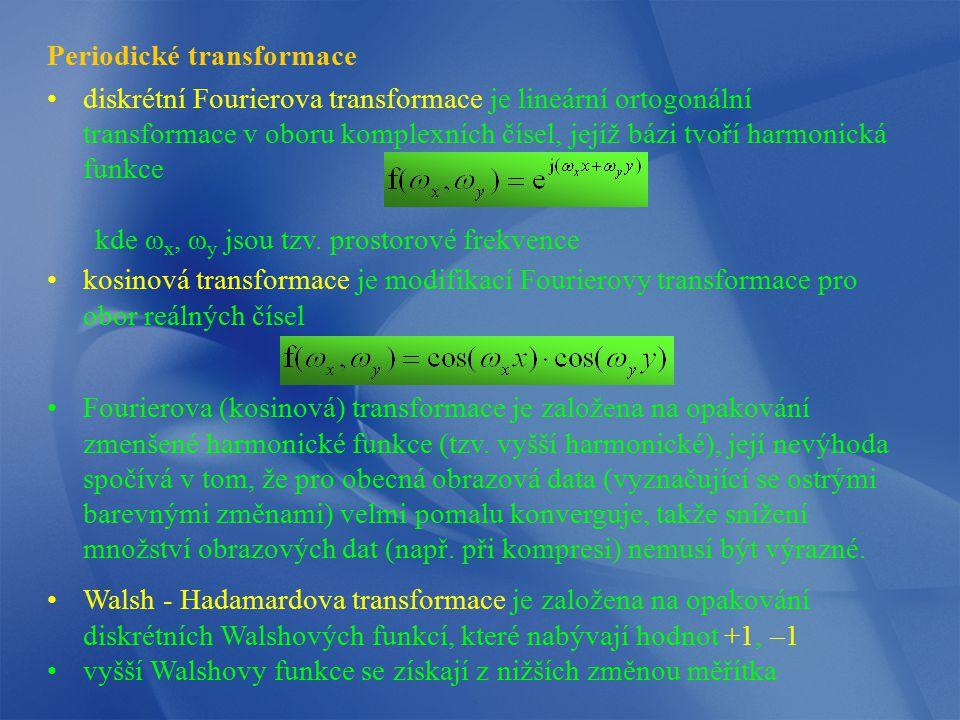 Periodické transformace diskrétní Fourierova transformace je lineární ortogonální transformace v oboru komplexních čísel, jejíž bázi tvoří harmonická