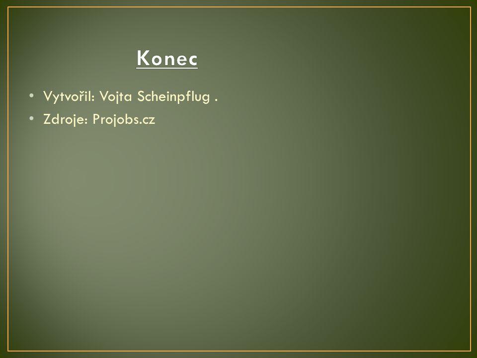 Vytvořil: Vojta Scheinpflug. Zdroje: Projobs.cz