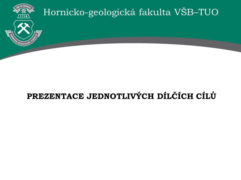 Hornicko-geologická fakulta VŠB–TUO PREZENTACE JEDNOTLIVÝCH DÍLČÍCH CÍLŮ