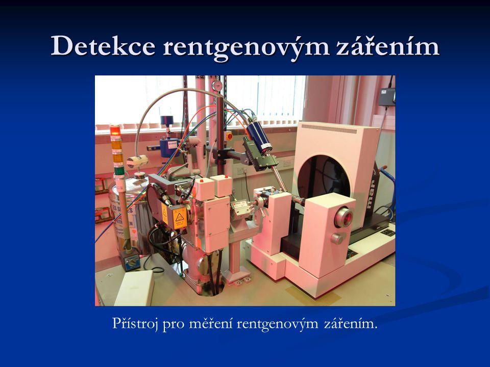 Detekce rentgenovým zářením Přístroj pro měření rentgenovým zářením.