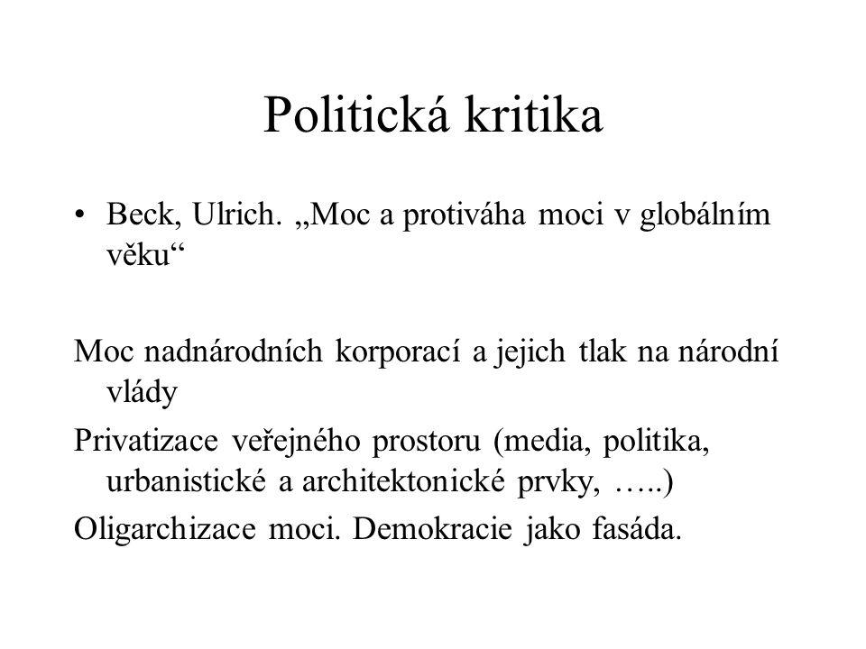Politická kritika Beck, Ulrich.