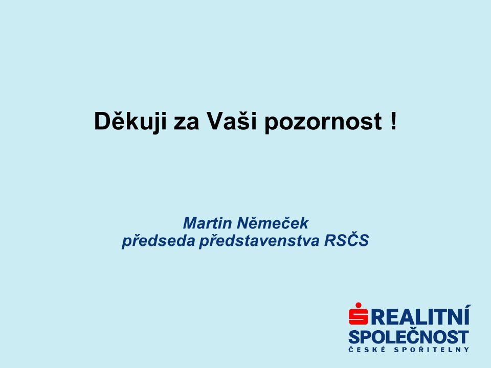 Děkuji za Vaši pozornost ! Martin Němeček předseda představenstva RSČS