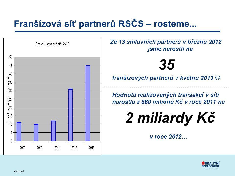 strana 6 Franšízová síť partnerů RSČS – rosteme...