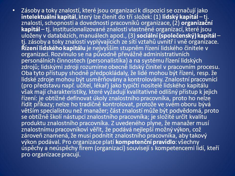 Kompetencí rozumíme předpoklad pro vykonávání práce jednotlivého člověka (držitele pracovního místa).