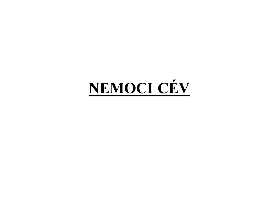 NEMOCI CÉV