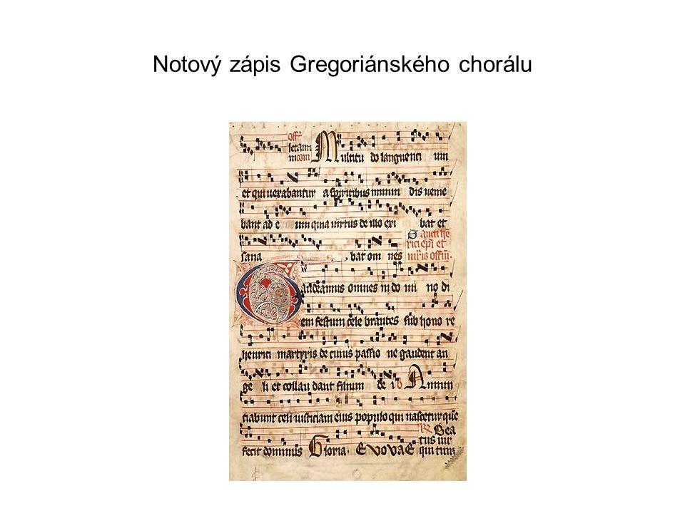 Notový zápis Gregoriánského chorálu