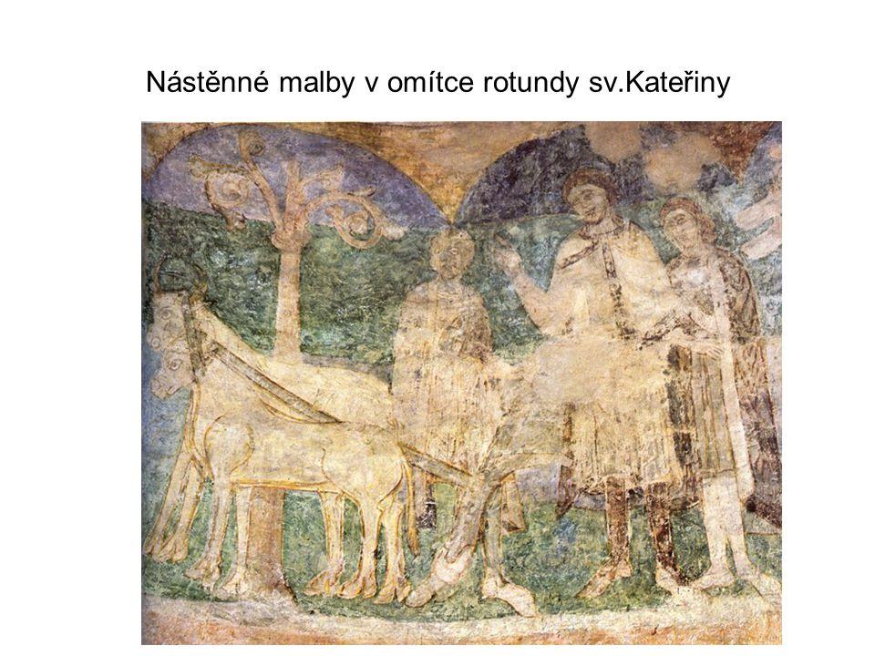 Nástěnné malby v omítce rotundy sv.Kateřiny