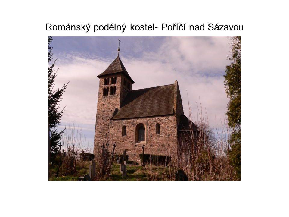 Románský podélný kostel- Poříčí nad Sázavou